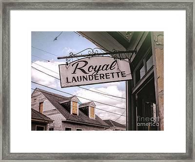 Royal Launderette- Nola Framed Print by Kathleen K Parker