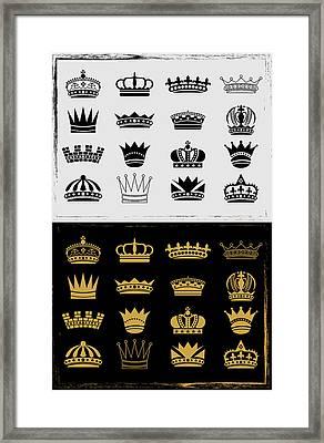 Royal Luxury Crown Framed Print by Shahid Mehmood