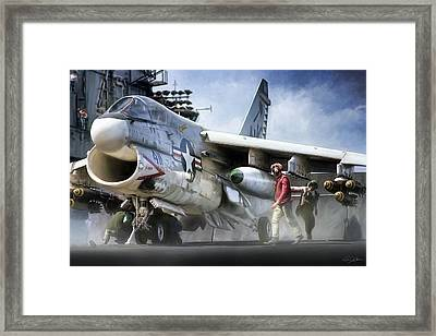 Royal Maces Va-27 Framed Print by Peter Chilelli