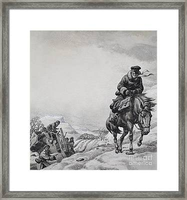 Royal Messenger James Baillie Fraser  Framed Print by Pat Nicolle