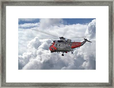 Framed Print featuring the photograph Royal Navy - Sea King by Pat Speirs