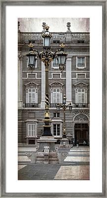 Royal Palace Lamppost Framed Print
