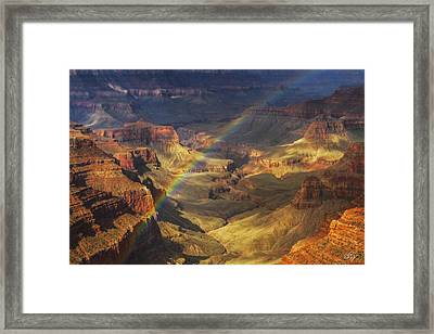 Royal Rainbow Framed Print by Peter Coskun