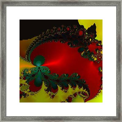 Royal Red Framed Print