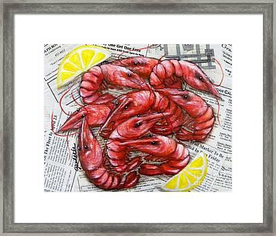Royal Reds Framed Print by JoAnn Wheeler