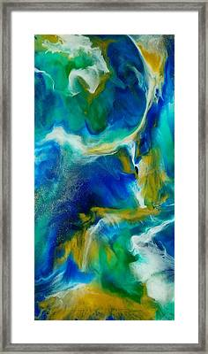Framed Print featuring the mixed media Royal Sands by Christie Minalga
