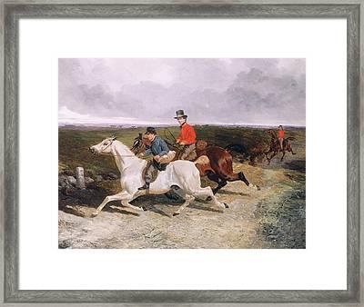 Royal Servants On The Road To Windsor Framed Print by John Frederick Herring Snr