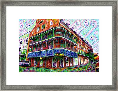 Royal Sonesta Desire - New Orleans Framed Print by Bill Cannon