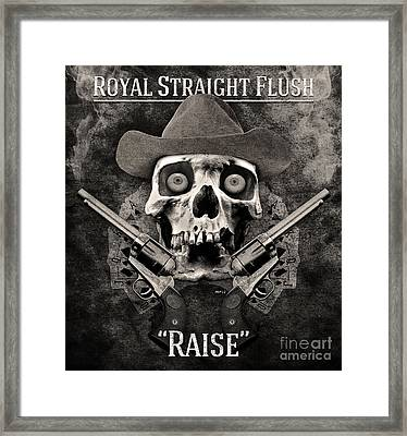 Framed Print featuring the digital art Royal Straight Flush by Phil Perkins