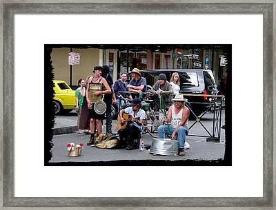 Royal Street Musicians Framed Print by Linda Kish