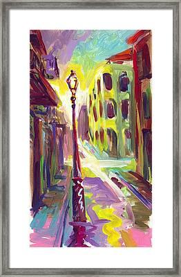 Royal Street New Orleans Framed Print by Saundra Bolen Samuel