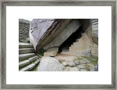 Framed Print featuring the photograph Royal Tomb, Machu Picchu, Peru by Aidan Moran
