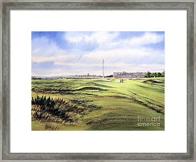 Framed Print featuring the painting Royal Troon Golf Course by Bill Holkham