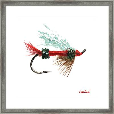 Royal Trude Salmon Fly Framed Print by Sean Seal
