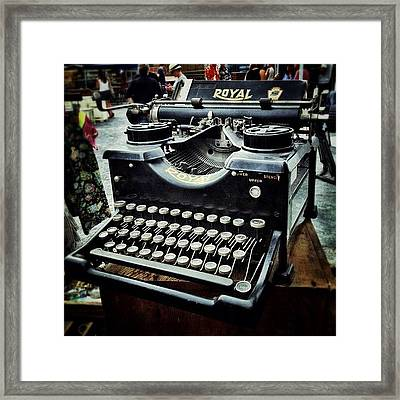 Royal Typewriter Framed Print by Natasha Marco