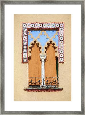 Royal Window Framed Print by David Letts