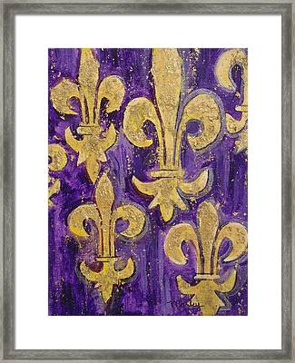 Royale De Lis Framed Print by Made by Marley