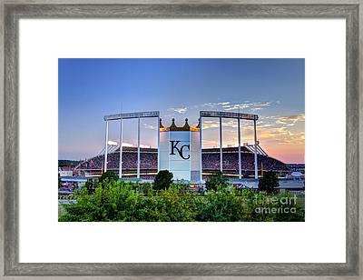 Royals Kauffman Stadium  Framed Print