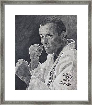 Royce Gracie Framed Print by Adrienne Martino