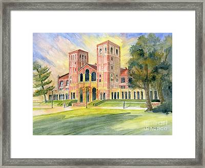 Royce Hall Ucla Framed Print by Melly Terpening