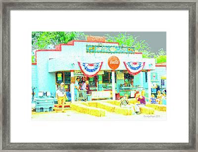 Royer's Cafe Framed Print