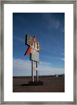 Framed Print featuring the photograph Roys In Amboy by Matthew Bamberg