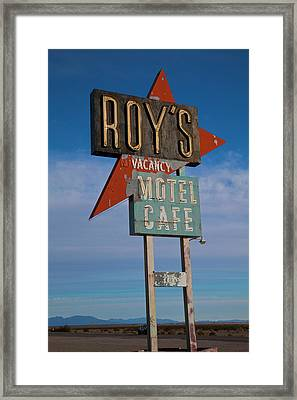 Framed Print featuring the photograph Roy's Motel Cafe by Matthew Bamberg