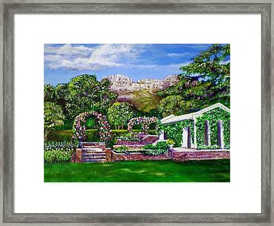 Rozannes Garden Framed Print by Michael Durst