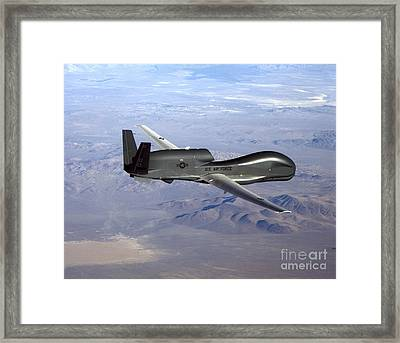 Rq-4 Global Hawk Framed Print by Photo Researchers