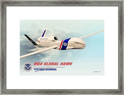 Rq4 Global Hawk Drone United States Framed Print by John Wills