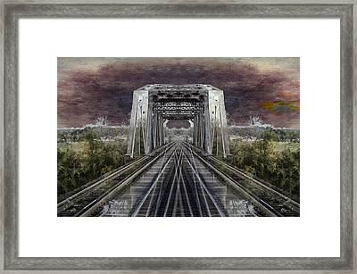 Rr Bridge Textured Composite Framed Print by Thomas Woolworth