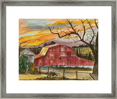 Rt 66 Barn Outside Davenport Oklahoma Framed Print