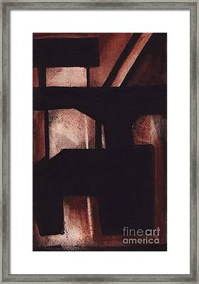 Rt 80 Abstract 5 Framed Print