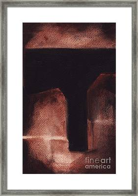 Rt 80 Abstract 6 Framed Print by Ron Erickson