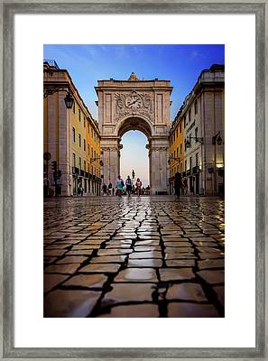 Rua Augusta Arch Lisbon Framed Print