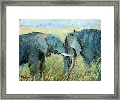 Two Together Framed Print by Ann Radley
