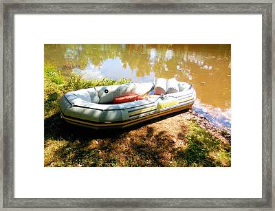 Rubber Boat 1 Framed Print by Lanjee Chee
