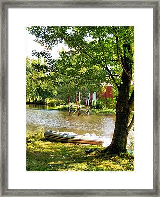 Rubber Boat 2 Framed Print by Lanjee Chee