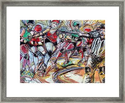Rubber City Roller Girls Framed Print by Terry Brown