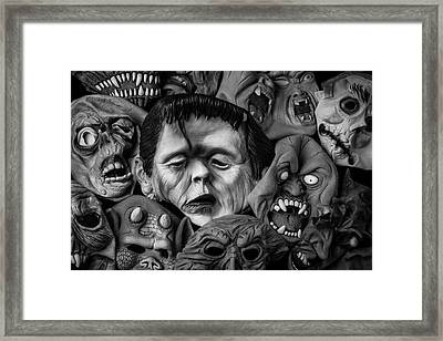 Rubber Halloween Masks Framed Print by Garry Gay
