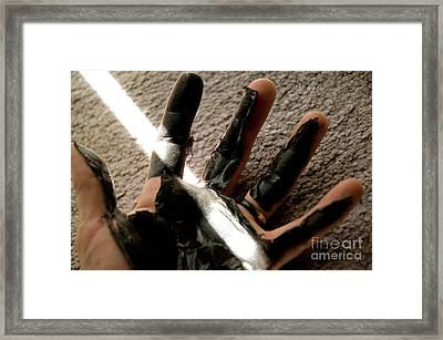 Framed Print featuring the photograph Rubber Hand by Micah May