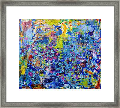 Rube Goldberg Abstract Framed Print by Regina Valluzzi