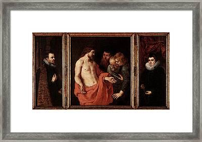Rubens The Incredulity Of St Thomas Framed Print
