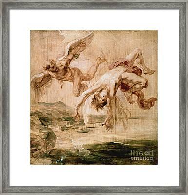 Rubens:fall Of Icarus 1637 Framed Print by Granger