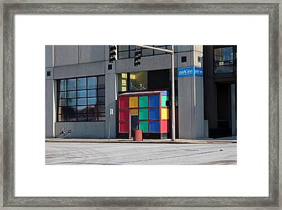 Framed Print featuring the photograph Rubik Shelter by Michiale Schneider