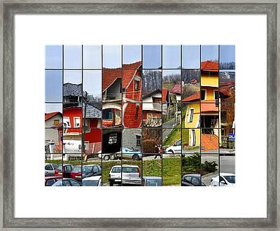 Rubik's Town Framed Print