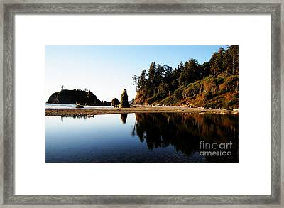 Ruby Beach Reflections Framed Print