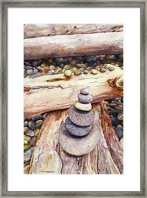 Framed Print featuring the painting Ruby Beach by Anne Gifford