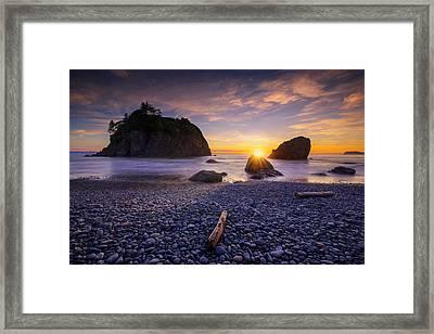 Framed Print featuring the photograph Ruby Beach Dreaming by Dan Mihai