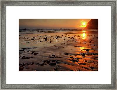 Ruby Beach Sunset Framed Print